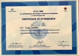 2008 IETC Katılım Belgesi
