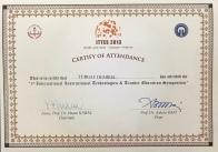 2013 ITTES Katılım Belgesi Trabzon