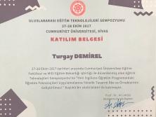 2017 UETS Katılım Belgesi Sivas
