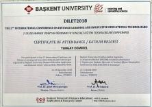 2018 DILET Katılım Belgesi Ankara